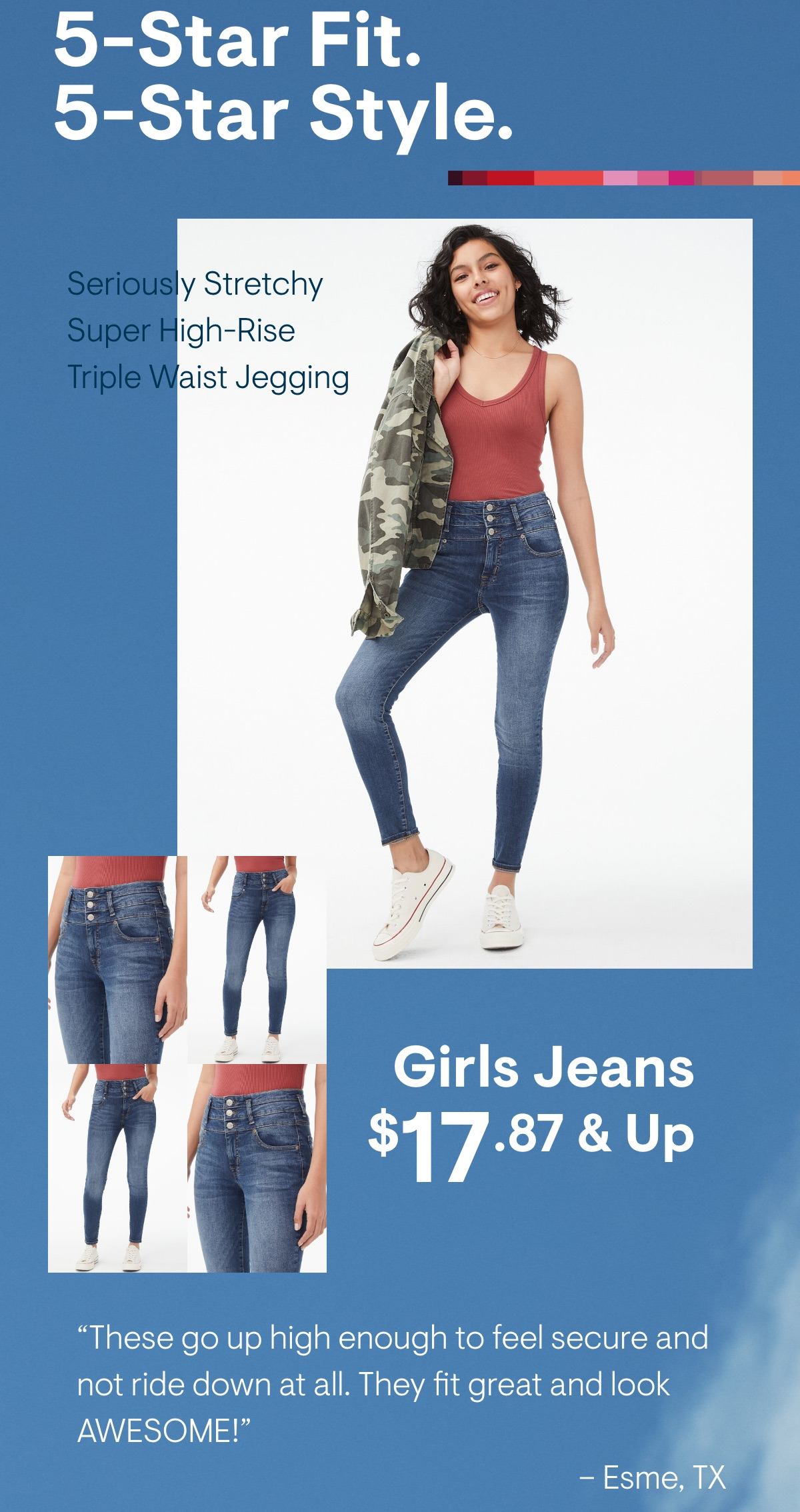 Super High-Rise Triple-Waist Ankle Jegging